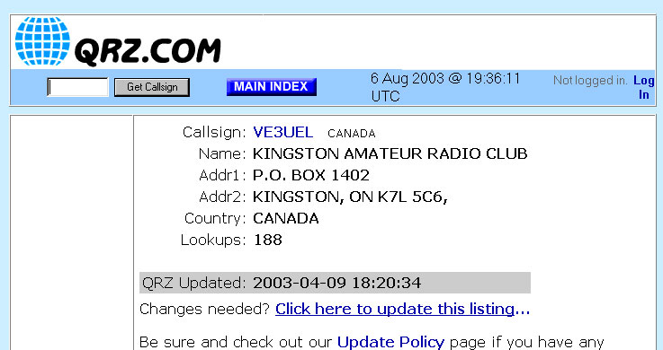 Kingston Amateur Radio Club - APRS Station Locator